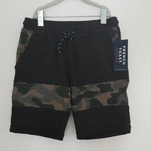 French Toast Boy's Green Camo Terry Short Size 5